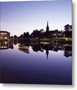 Skyline Over The R Garavogue, Sligo Metal Print