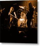 Skynyrd Sf 1975 #10 Crop 2 Enhanced In Amber Metal Print