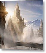 Skyrim Fantasy Ruins Metal Print by Alex Ruiz