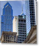 Skyscraper City Center  Liberty Place Metal Print