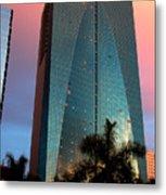 Skyscraper In Miami Metal Print