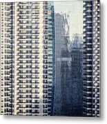 Skyscraper Windows Metal Print