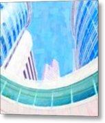 Skyscrapers Against Blue Sky Metal Print