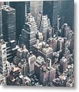 Skyscrapers View From Above Building 83641 3840x1200 Metal Print