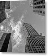 Skytops Manhattan Black And White Metal Print