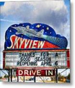 Skyview Drive-in Theater Metal Print