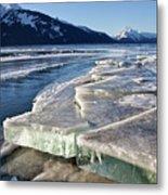 Slabs Of Ice Metal Print