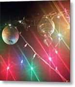 Slap Happy Christmas Lites Metal Print