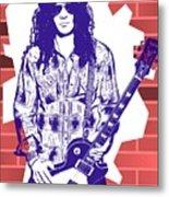 Slash Graffiti Tribute Metal Print