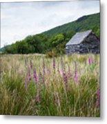 Slate Cabin In Wales Metal Print