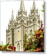 Slc Temple Angle Metal Print by La Rae  Roberts
