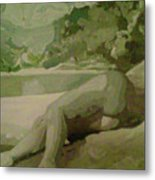 Sleep Behind The River Metal Print