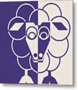 Sleep-sheep - Lonvig By Minymo Metal Print