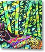 Sleep To Dream Silkpainting Belize Metal Print
