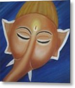 Sleeping Ganesha Metal Print