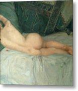 Sleeping Naked Woman Metal Print