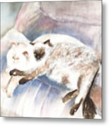 Sleeping Together Metal Print