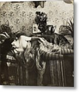 Sleeping Woman, C1900 Metal Print