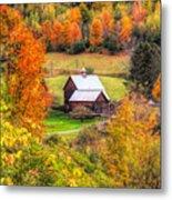 Sleepy Hollow Farm In Fall Metal Print