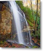 Slick Rock Falls, A North Carolina Waterfall In Autumn Metal Print