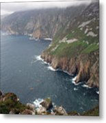 Slieve League Cliffs Metal Print by John Quinn