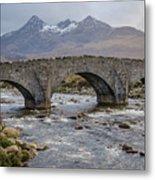 Sligachen Bridge And The Black Cullin, Isle Of Skye Metal Print