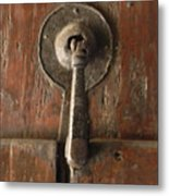 Slim Door Knocker Metal Print