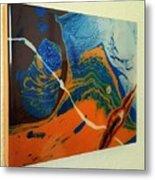 Slime, Roping A Primorbial Amoeba Metal Print