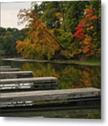 Slips In Autumn Metal Print