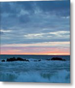 Sliver Of Pink At Moonstone Beach Metal Print