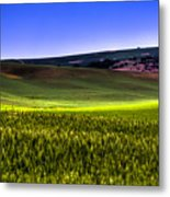 Sliver Of Sunlight On The Palouse Hills Metal Print