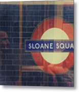 Sloane Square Portrait Metal Print