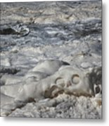 Sloppy Folding Over Of A Momenary Water Sculpture Metal Print