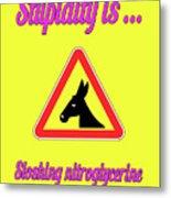 Sloshing Bigstock Donkey 171252860 Metal Print