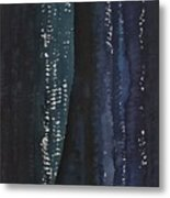 Slot Canyon In Moonlight Original Painting Metal Print