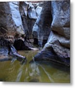 Slot Canyon In Zion National Park Metal Print