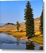 Slough Creek Afternoon Panrama Metal Print