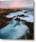 Slow Exposure Kerry Sunset Ireland Metal Print