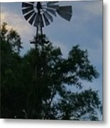 Slowly Blows The Wind Metal Print