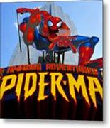 Spider Man Ride Sign.  Metal Print
