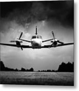 Small Airplane Low Flyby Metal Print
