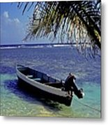 Small Boat Belize Metal Print