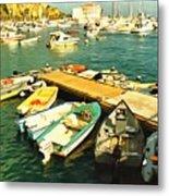 Small Boat Dock Catalina Island California Metal Print