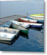 Small Boats Docked To A Pier Metal Print