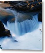 Small Cascade In Maligne Canyon Metal Print