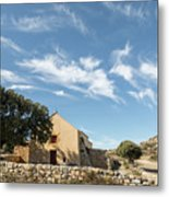 Small Chapel In The Hills Of The Balagne Region Of Corsica Metal Print