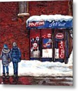 Small Format Paintings For Sale Poutine Lafleur Montreal Petits Formats A Vendre Cspandau Artist  Metal Print