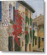Small French Village Metal Print