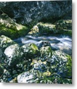 Small Freshwater Spring Under Rocks Metal Print