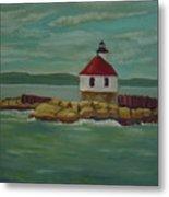 Small Island Lighthouse Metal Print